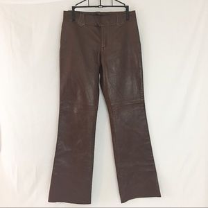 Banana Republic Leather Pants Fully Lined Brown 8